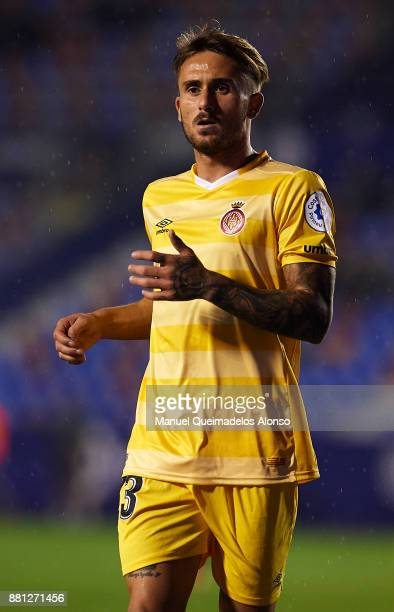 Aleix Garcia of Girona looks on during the Copa del Rey Round of 32 Second Leg match between Levante and Girona at Ciudad de Valencia Stadium on...