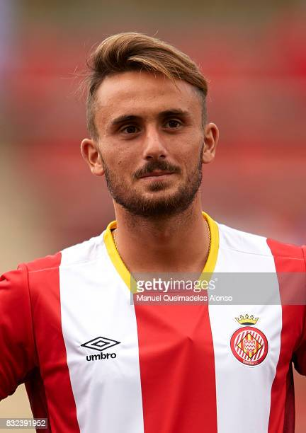 Aleix Garcia of Girona looks on prior to the preseason friendly match between Girona and Manchester City at Municipal de Montilivi Stadium on August...