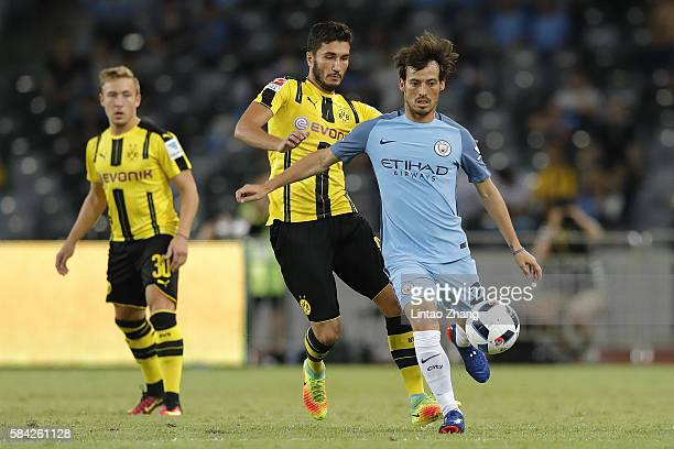 Aleix Garcia of Manchester City contests the ball during the 2016 International Champions Cup match between Manchester City and Borussia Dortmund at...