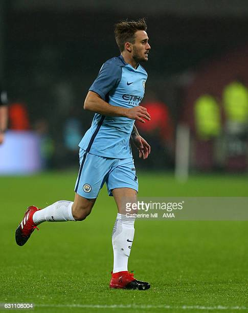 Aleix Garcia of Manchester City during the Emirates FA Cup Third Round match between West Ham United and Manchester City at London Stadium on January...