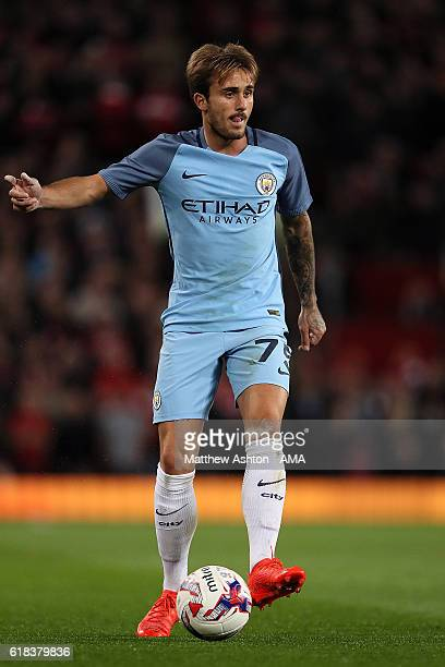 Aleix Garcia of Manchester City in ation during the EFL Cup Fourth Round match between Manchester United and Manchester City at Old Trafford on...