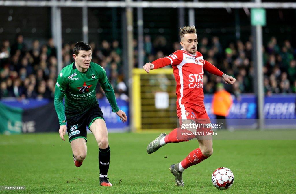 Royal Excel Mouscron Peruwelz v Cercle Brugge - Jupiler Pro League : News Photo
