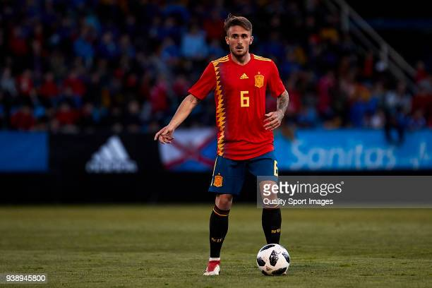 Aleix Garcia of Spain U21 in action during the 2019 UEFA Under 21 qualification match between Spain U21 and Estonia U21 at Toralin Stadium on March...