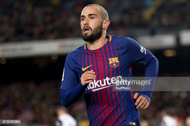 Aleix Vidal during the spanish football King's CUP match between FC Barcelona and Valencia CF at the Camp Nou Stadium in Barcelona Catalonia Spain on...