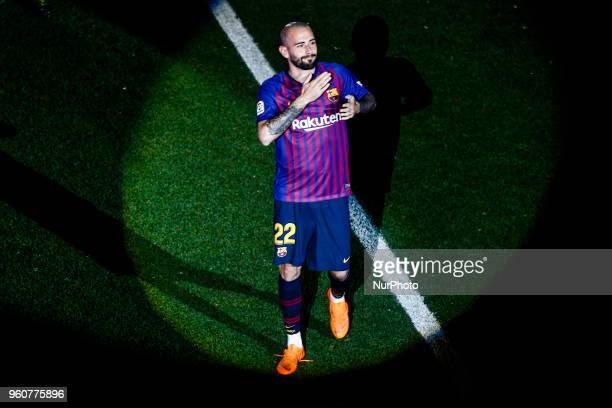 22 Aleix Vidal from Spain of FC Barcelona during the Andres Iniesta farewell at the end of the La Liga football match between FC Barcelona v Real...
