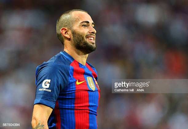 Aleix Vidal of FC Barcelona during the International Champions Cup 2016 match between Barcelona and Leicester City at Friends arena on August 3 2016...