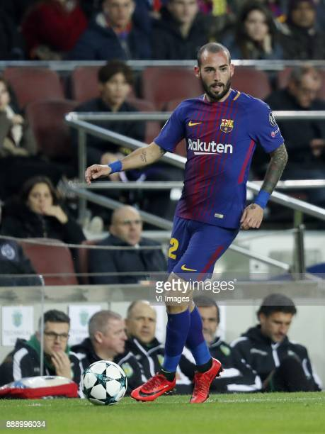 Aleix Vidal of FC Barcelona during the UEFA Champions League group D match between FC Barcelona and Sporting Club de Portugal on December 05 2017 at...