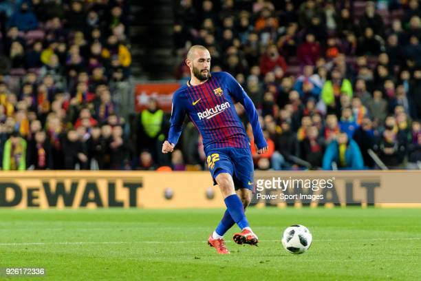 Aleix Vidal of FC Barcelona in action during the Copa Del Rey 201718 match between FC Barcelona and Valencia CF at Camp Nou Stadium on 01 February...