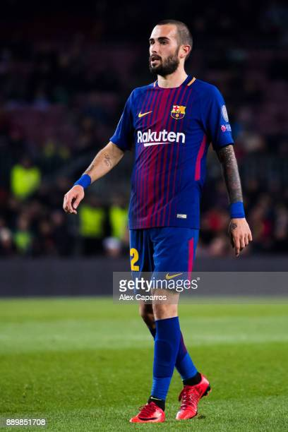 Aleix Vidal of FC Barcelona looks on during the UEFA Champions League group D match between FC Barcelona and Sporting CP at Camp Nou on December 5...