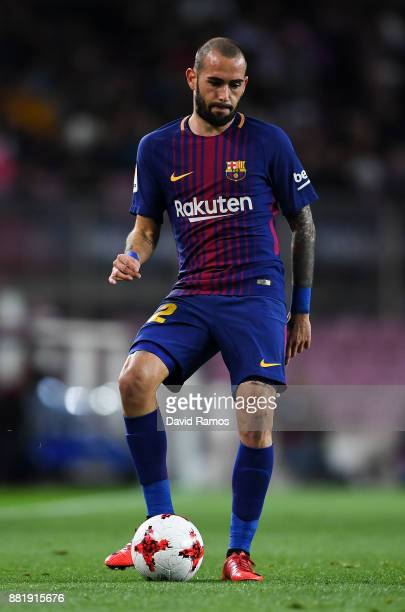 Aleix Vidal of FC Barcelona runs with the ball during the Copa del Rey round of 32 second leg match between FC Barcelona and Real Murcia at Camp Nou...