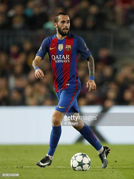 Aleix Vidal of FC Barcelonaduring the UEFA Champions League group C match between FC Barcelona and Borussia Monchengladbach on December 06 2016 at...