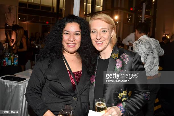 Alejanda Cruz and Leanne Zmood attend the Unveiling of White Square by Richard Meier Partners at Citigroup Center on December 7 2017 in Miami Florida