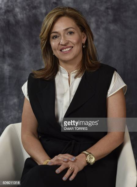 Alejandra Alcocer Regional Director of ObelaPepsico Foods Mexico during the Women's Forum in Mexico City on April 28 2016 / AFP / OMAR TORRES