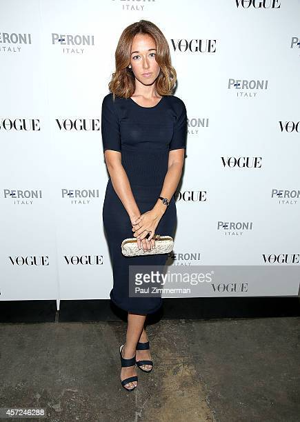 Alejandra Alonso attends Peroni Nastro Azzurro celebrates The Visionary World of Vogue Italia opening night at Industria Studios on October 14 2014...