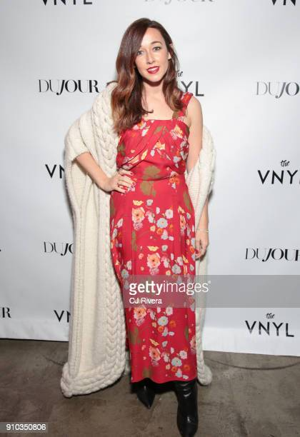 Alejandra Alonso Rojas attends a celebration of Diane Kruger's DuJour Magazine cover at The Vnyl on January 25 2018 in New York City