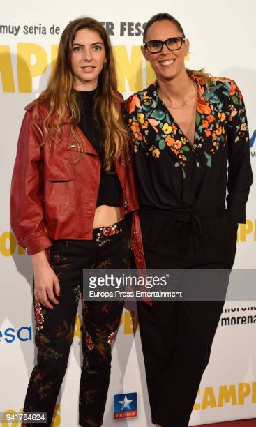 Alejandra Alvarez and Amaya Valdemoro attend 'Campeones' premiere at Kinepolis cinema on April 3 2018 in Madrid Spain