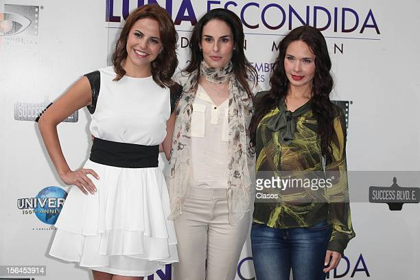 Alejandra Ambrosi Ana and Adriana Louvier Serradilla pose during a photo shoot for the Luna Escondida Film Screening on November 14 2012 in Mexico...