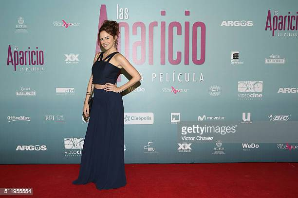 Alejandra Ambrosi attends 'Las Aparicio' Mexico City premiere at Cinepolis Plaza Universidad on February 23 2016 in Mexico City Mexico