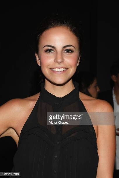 Alejandra Ambrosi attends the day 6 of Mercedes Benz Fashion Week Mexico Fall/Winter 2018 at Fronton Mexico on April 27 2018 in Mexico City Mexico