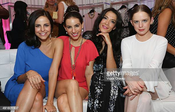Alejandra Ambrosi Claudia Lizaldi María Del Carmen Félix and Nayan Gonzalez Norvind attend the BCBG Max Azria 25th anniversary at Plaza Carso on May...