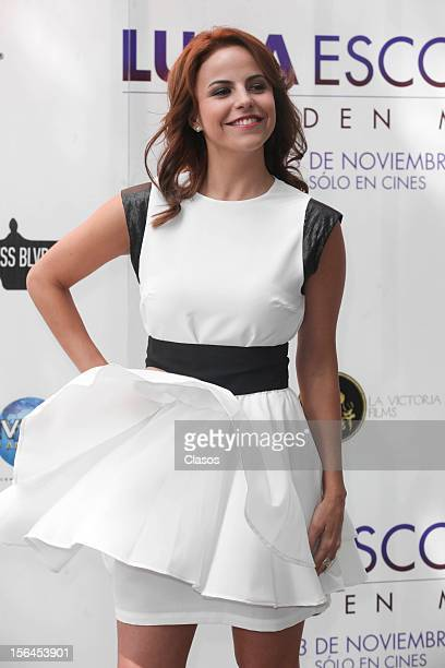 Alejandra Ambrosi poses during a photo shoot for the Luna Escondida Film Screening Escondida on November 14 2012 in Mexico City Mexico