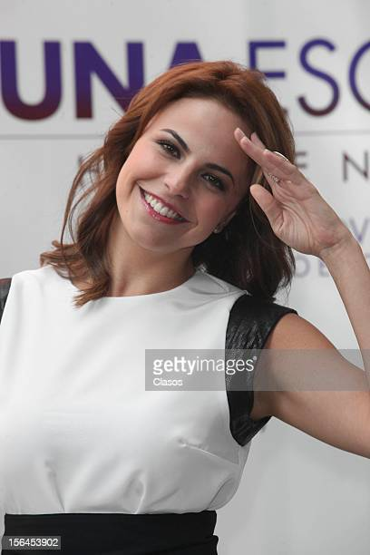 Alejandra Ambrosi poses during a photo shoot for the Luna Escondida Screening Escondida on November 14 2012 in Mexico City Mexico
