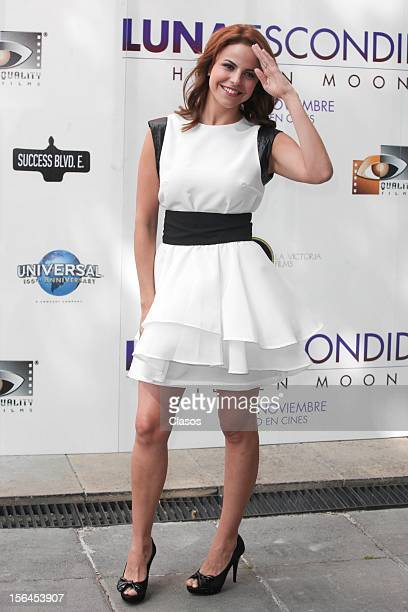 Alejandra Ambrosi poses during a photo shoot for the Luna Escondida Film Screening on November 14 2012 in Mexico City Mexico