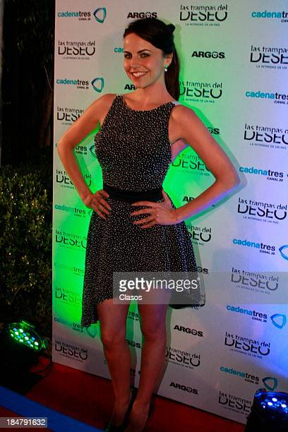 Alejandra Ambrosi poses for a photo during the presentation of the new serie Las Trampas del Deseo at Hacienda los Morales on October 16 2013 in...