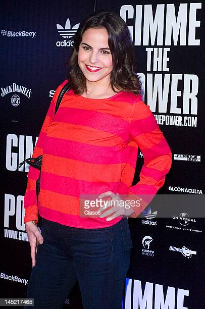 Alejandra Ambrosi poses for a picture during the avant premiere of the documentary about the Mexican rock band Molotov titled Gimme the Power in the...