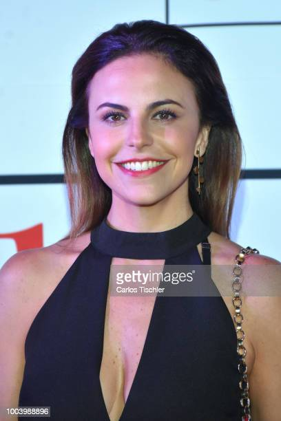 Alejandra Ambrosi poses for photos during the red carpet of the movie 'Mas Sabe El Diablo por Viejo' at Cinemex Antara Polanco on July 19 2018 in...