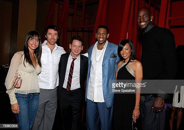 Alejandra and Steve Nash Jim Nelson EditorInChief Rashad McCants and Brandi and Kevin Garnett attend the NBA AllStar Weekend Party hosted by GQ...