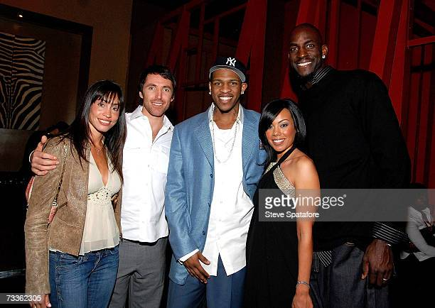 Alejandra and Steve Nash Rashad McCants and Brandi and Kevin Garnett attend the NBA AllStar Weekend Party hosted by GQ Magazine and Steve Nash of the...