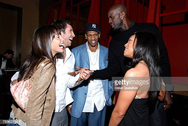 Alejandra and Steve Nash Rashad McCants and Kevin and Brandi Garnett attend the NBA AllStar Weekend Party hosted by GQ Magazine and Steve Nash of the...