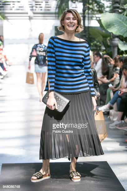 Alejandra Andreu walks the runway during the Merkal fashion show at Atocha greenhouse on April 18 2018 in Madrid Spain