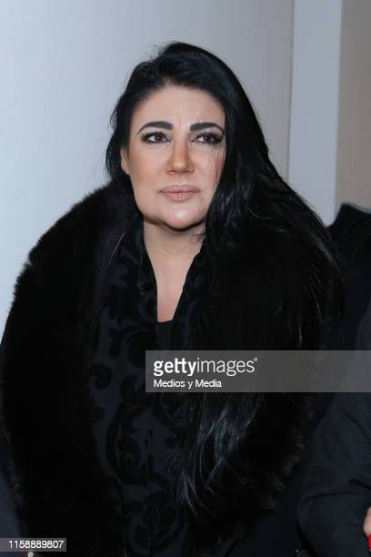 Alejandra Avalos during the funeral of singer actor and television presenter Gualberto Castro on June 28 2019 in Mexico City Mexico Gualberto Castro...