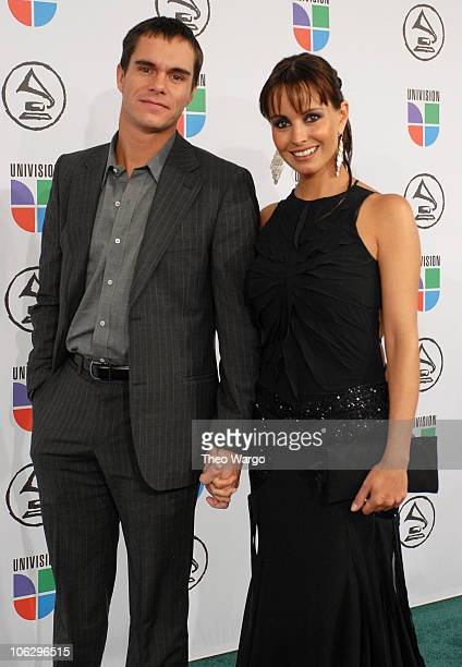 Alejandra Barros and guest during The 7th Annual Latin GRAMMY Awards Red Carpet at Madison Square Garden in New York City New York United States