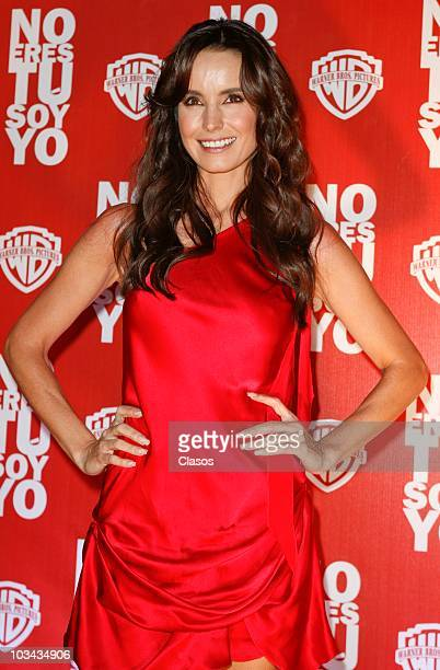 Alejandra Barros attends at No Eres Tu Soy Yo movie premiere on August 17 2010 in Mexico City Mexico