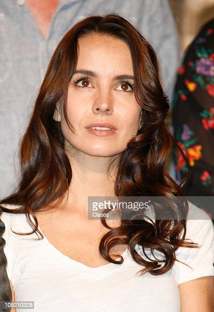 Alejandra Barros during a press conference to present the movie Villa Itinerario de una Pasion on October 11 2010 in Mexico City Mexico