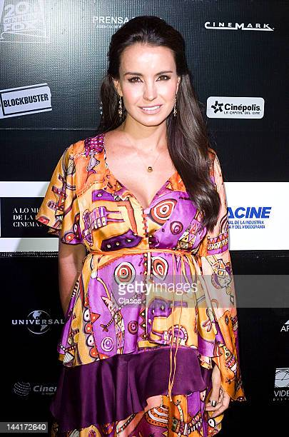 Alejandra Barros during the delivery of 8th Awards Canacine on May 9 2012 Mexico City Mexico