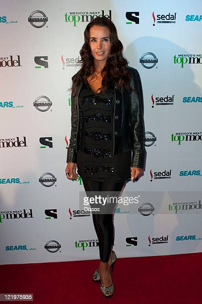 Alejandra Barros during the red carpet for the second season Mexico's Next Top Model at Bar Ragga Mexico City