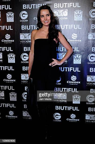 Alejandra Barros during the red carpet of the movie Biutiful at Cinemex Antara on October 18 2010 in Mexico City Mexico