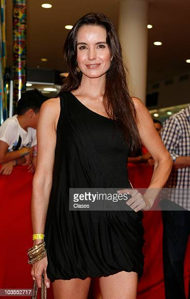Alejandra Barros poses for a photo at the red carpet of the movie No Eres Tu Soy Yo as part of the Festival Internacional de Cine de la Ciudad de...