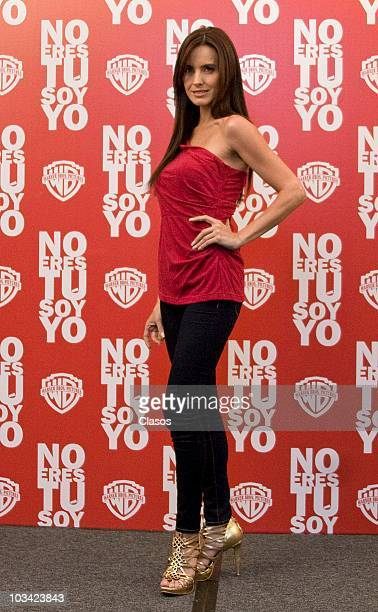Alejandra Barros poses for a photo during a session with the cast of the movie No Eres Tu Soy Yo at Four Seasons Hotel on August 17 2010 in Mexico...