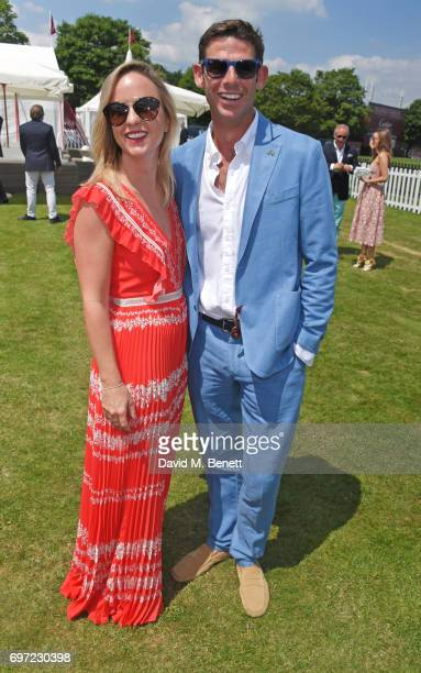Alejandra Borwick and Malcolm Borwick attend the Cartier Queen's Cup Polo final at Guards Polo Club on June 18 2017 in Egham England