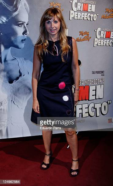 Alejandra Botto attends the Crimen Perfecto premiere photocall at Reina Victoria theatre on September 14 2011 in Madrid Spain