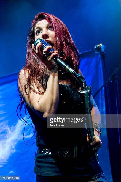 Alejandra Burgos of Fyre performs on stage supporting Anastacia at Shepherds Bush Empire on January 23 2015 in London United Kingdom