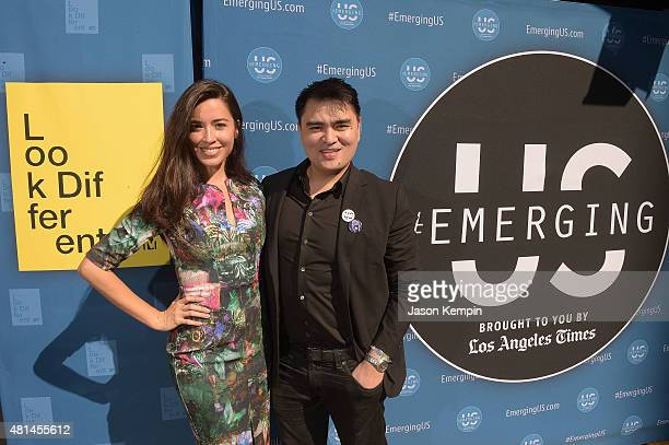 Alejandra Campoverdi and Jose Antonio Vargas attend a screening of White People at the Regent Theater on July 20 2015 in Los Angeles California