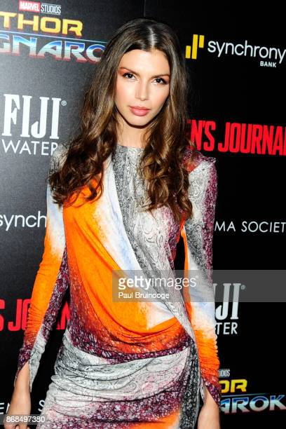 Alejandra Cata attends The Cinema Society with FIJI Water Men's Journal and Synchrony host a screening of Marvel Studios' 'Thor Ragnarok' at the...