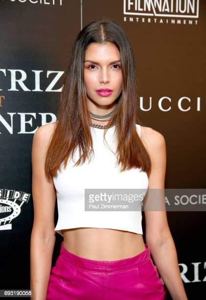 """Alejandra Cata attends the Gucci & The Cinema Society Host A Screening Of Roadside Attractions' """"Beatriz At Dinner"""" at the Metrograph on June 6, 2017..."""