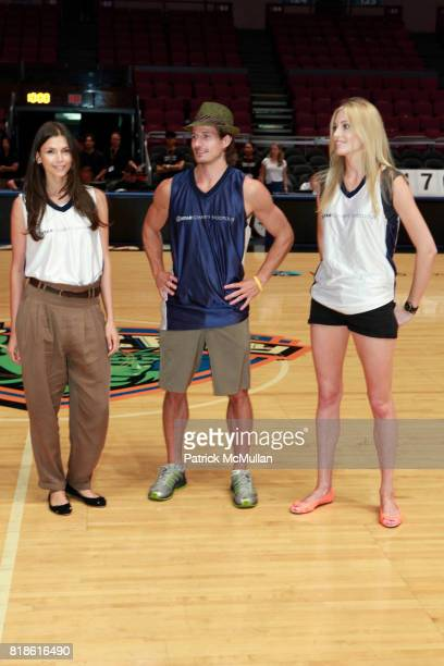 Alejandra Cata Lane Carlson and Jennifer Ohlsson attend 8th Annual iStar Charity Shootout at Madison Square Garden on June 21 2010 in New York City